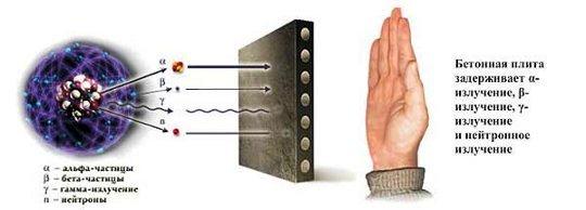 бетонная плита задерживает только альфа-,бета-, гамма- и и нейтронное излучение